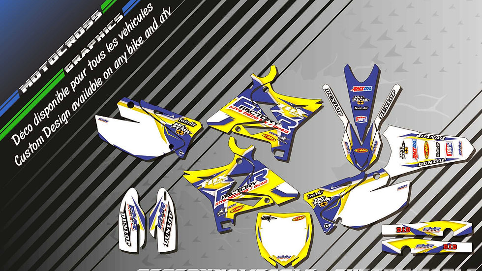 """""""Fmr Factory KA13D""""  Kit Déco Perso 125 & 250 YZ UFO RESTYLED"""