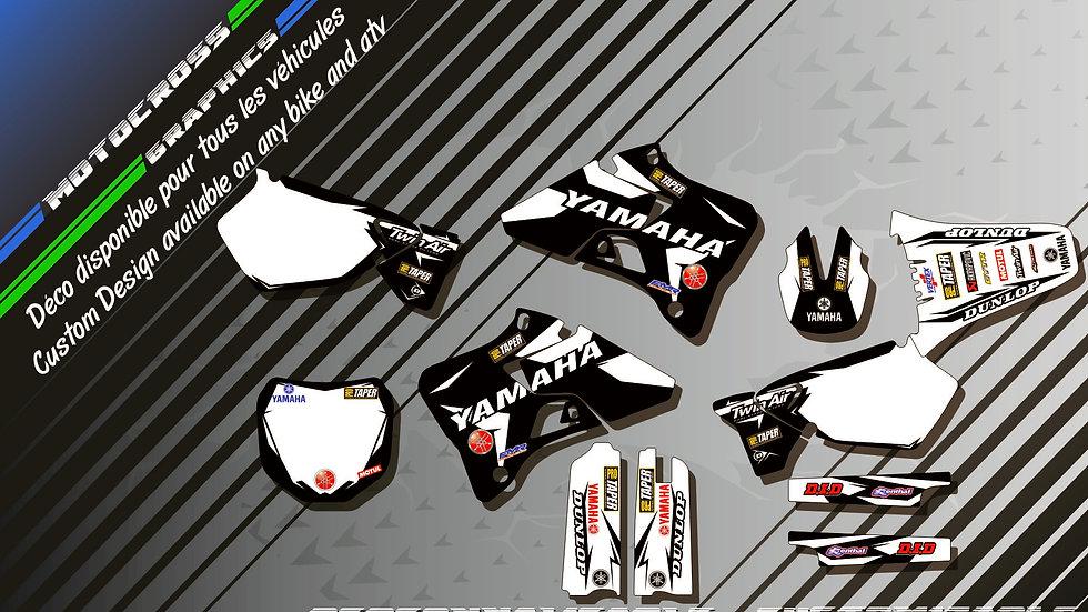 """Factory Black Edition KA10EB"" Kit Déco Perso 125 & 250 YZ 93-18"