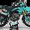 Thumbnail: Custom dirt bike Graphics kit KAWASAKI EVS TEAL