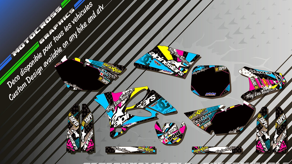 """ALPINESTARS CA4A""  Graphic kit YAMAHA YZ 85"