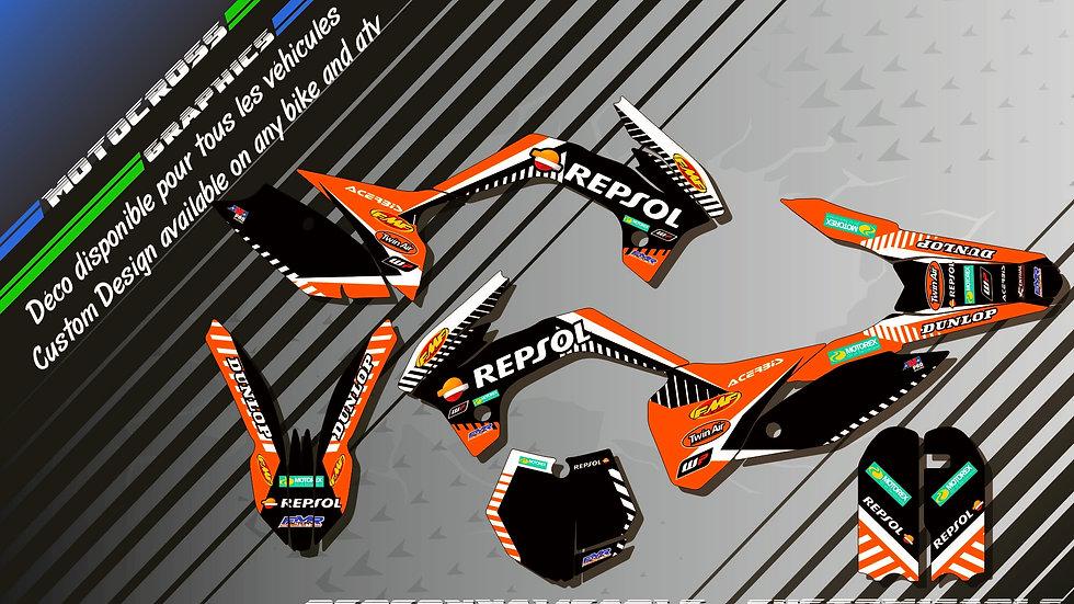 """Repsol KA12D"" Kit Déco Perso 85 & 105 SX 06-18"