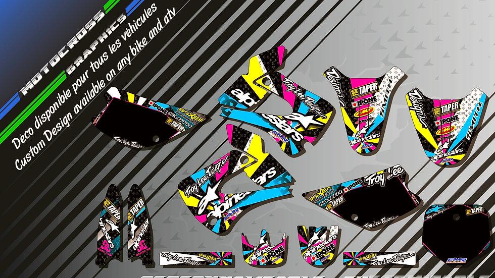 """""""ALPINESTARS CA4A"""" Graphic kit KAWASAKI KX 85"""