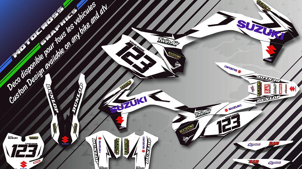 """Factory White Edition CA10DW"" Graphic kit SUZUKI RM 85"