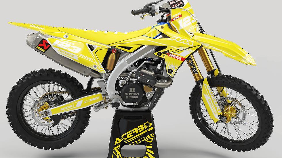 Custom dirt bike Graphics kit SUZUKI MOTUL YELLOW