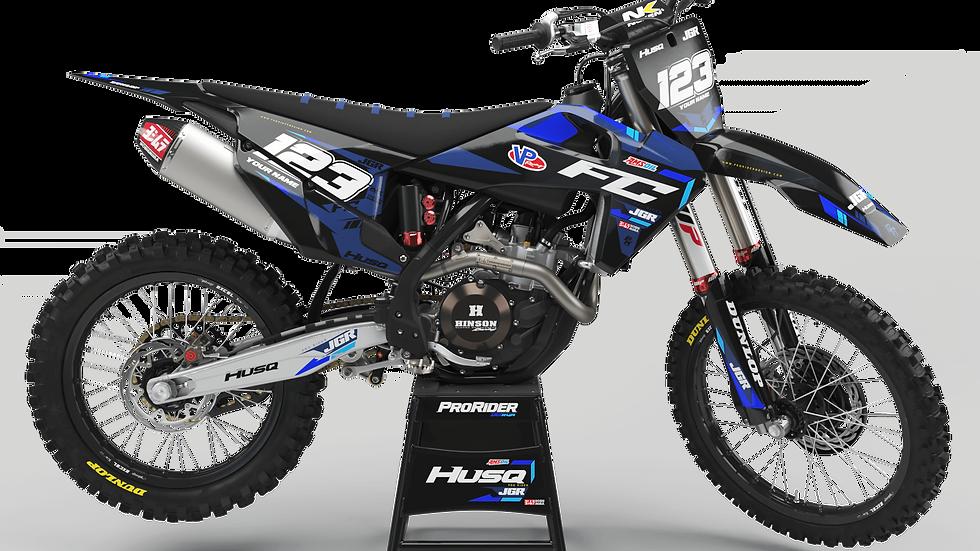 Custom dirt bike Graphics kit Husqvarna JGR
