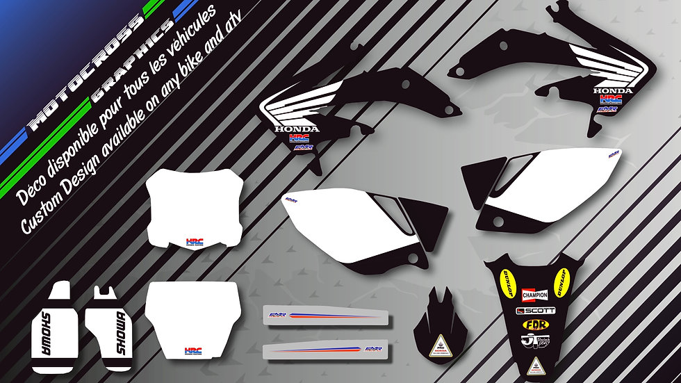 """Bailey Replica Black Edition CA11AB"" Graphic kit HONDA CRF 150F 250F"