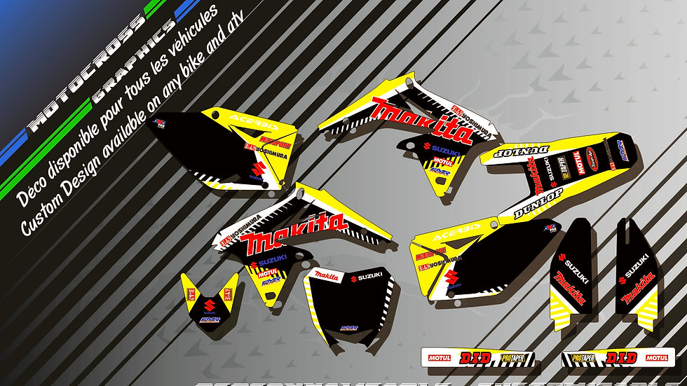 """Makita CA12C"" Graphic kit SUZUKI RMz 450"
