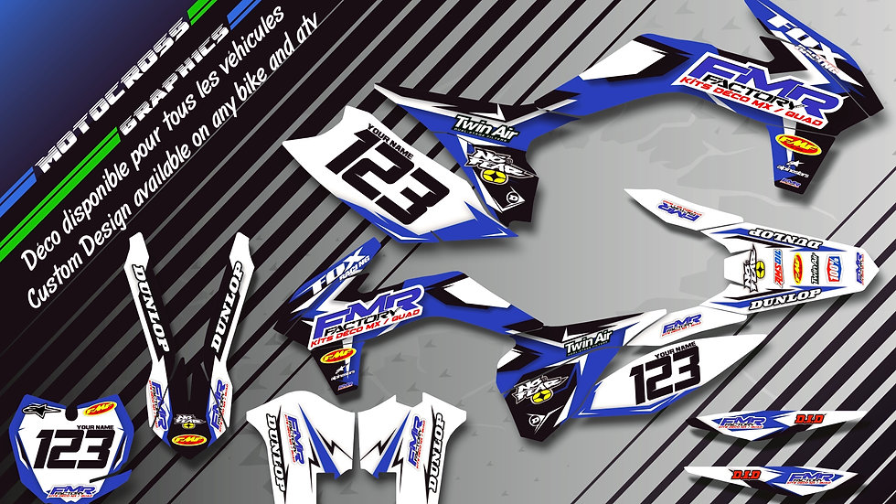 """Fmr Factory CA13E"" Graphic kit HUSQVARNA CR & TC 250"