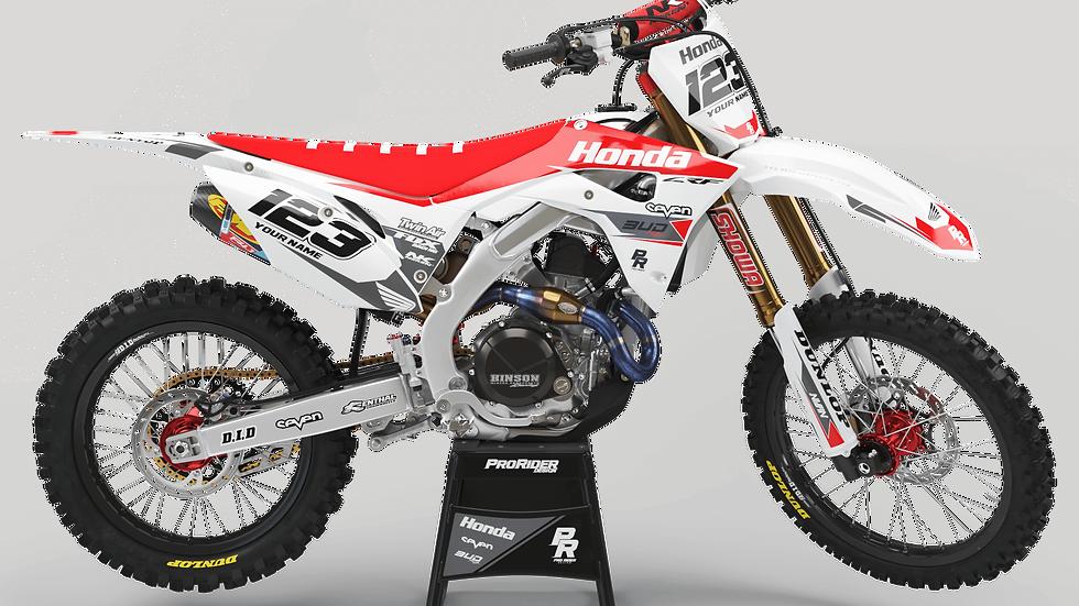 Custom dirt bike Graphics kit HONDA BUD RACING WHITE|RED CA36A2