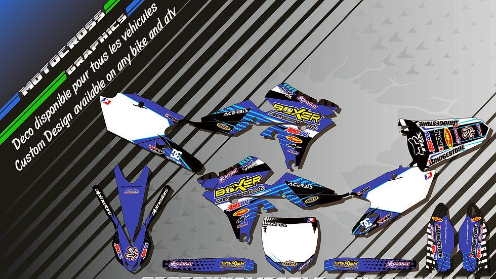 """BOXER CA1E"" Graphic kit YAMAHA YZF 250 00-17"