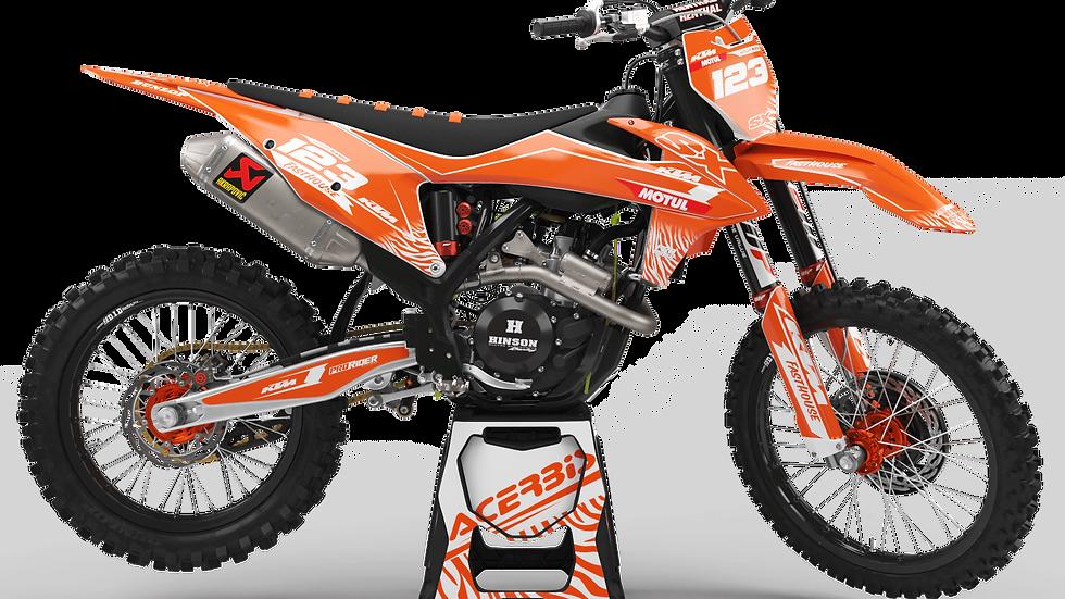Custom dirt bike Graphics kit KTM MOTUL ORANGE