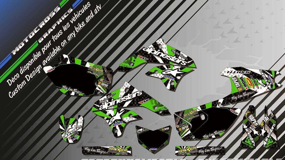 """""""ALPINESTARS CA4B"""" Graphic kit KAWASAKI KLX 450 R"""