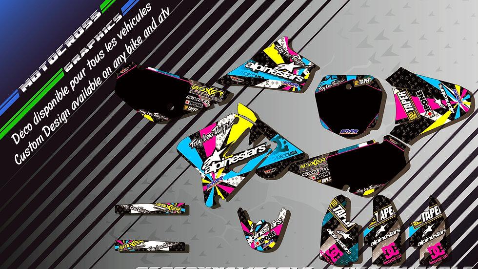 """ALPINESTARS CA4A"" Graphic kit SUZUKI RM 85"