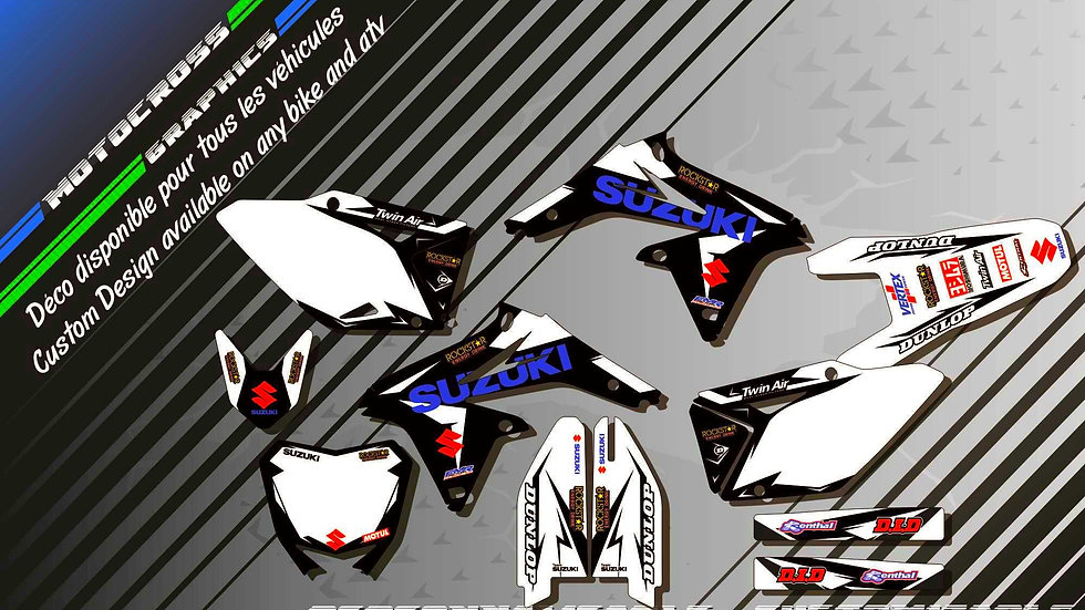 """Factory Black Edition KA10DB"" Kit Déco Perso 450 RMz 05-18"