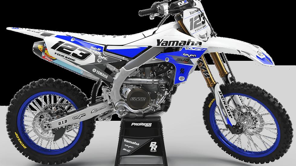 Custom dirt bike Graphics kit yamaha YAMAHA BUD RACING BLUE WHITE