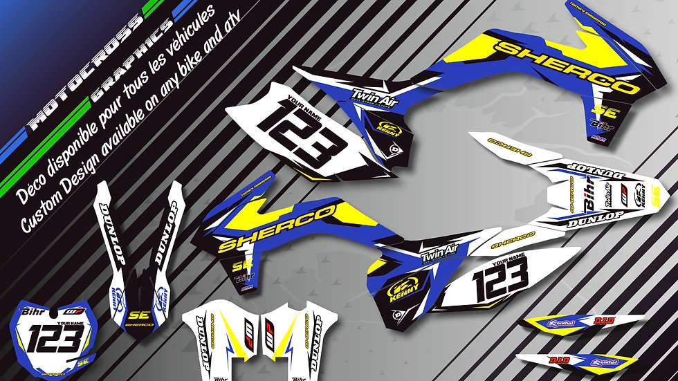 "Custom dirt bike Graphics kit SHERCO ""Factory Replica SHERCO CA10F"""