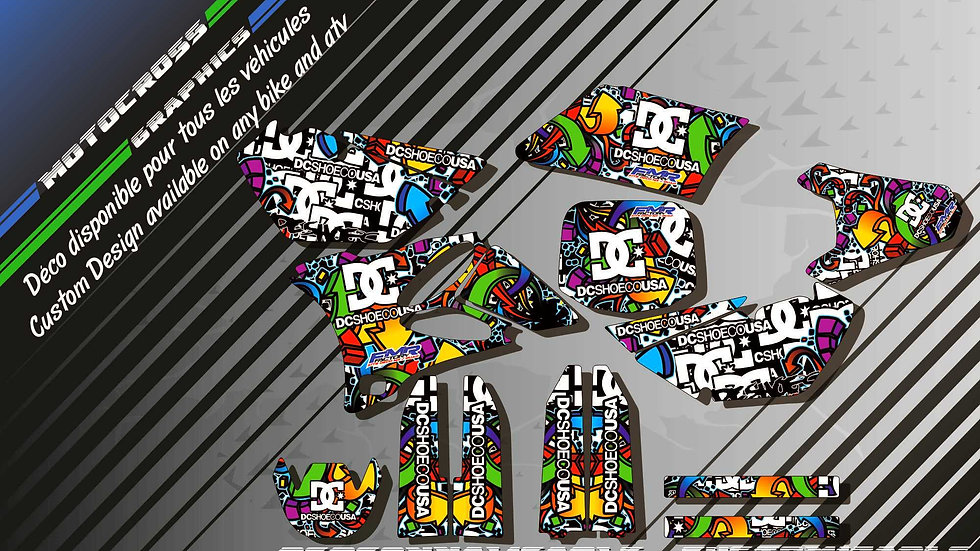 """DC Shoes CA14A"" Graphic kit YAMAHA YZ 85"