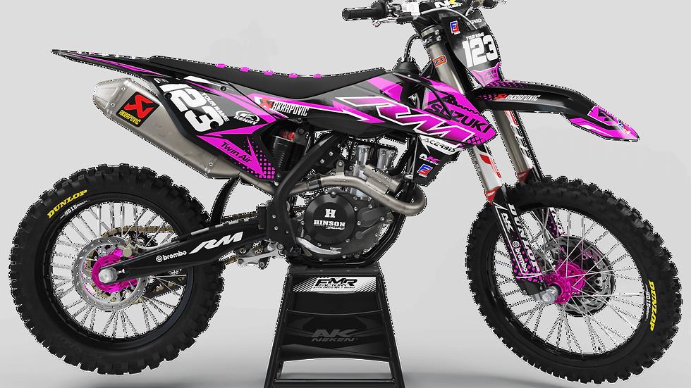 Custom dirt bike Graphics kit suzuki FACTORY ENERGY CA33D3 pink