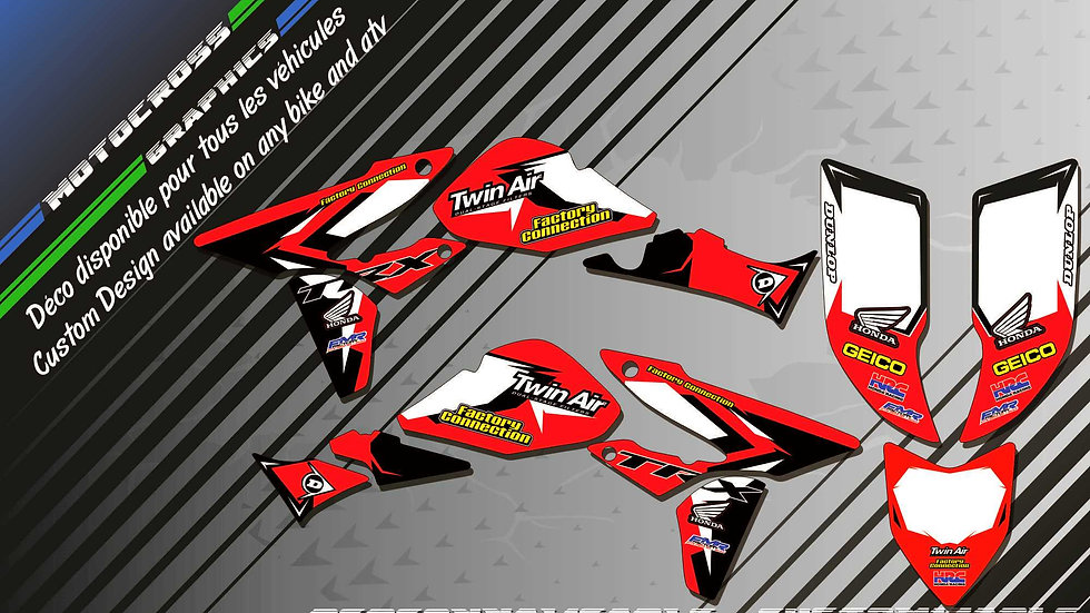 """Factory Replica HONDA CA10A"" Graphic kit HONDA TRX 450R"