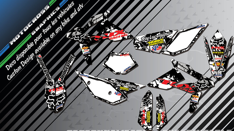 """FOX CA9F"" Graphic kit BETA RR & RS Series"