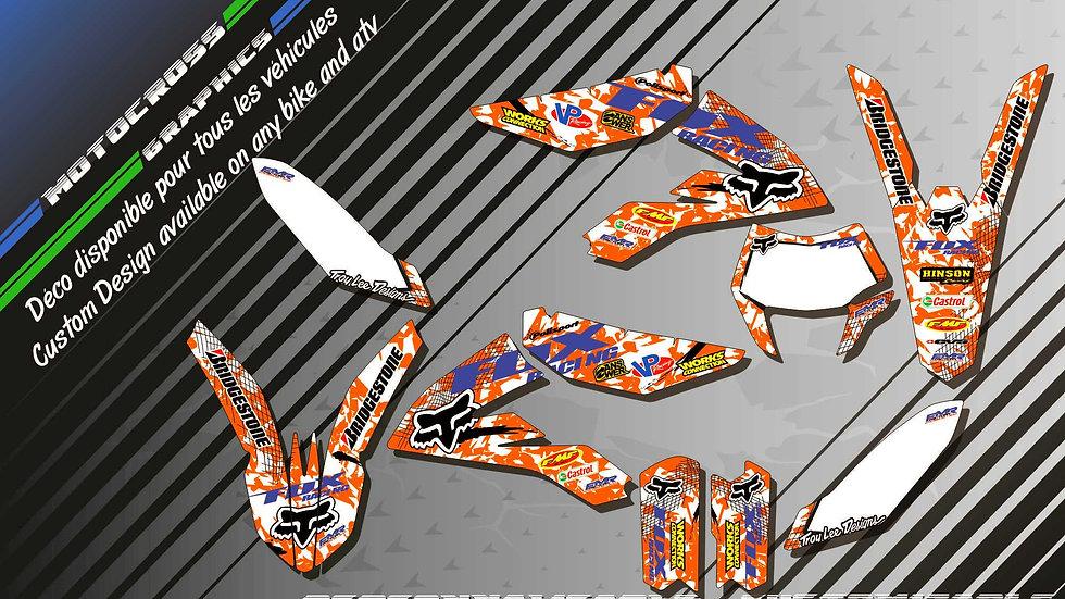 """FOX CA9C"" Graphic kit KTM FreeRide"