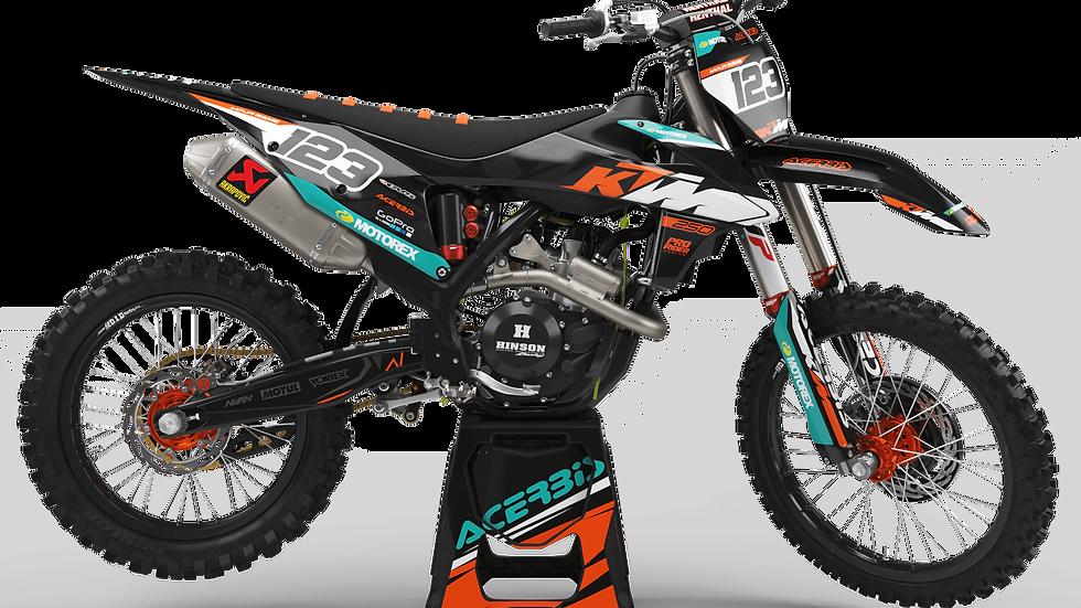 Custom dirt bike Graphics kit KTM MOTOREX