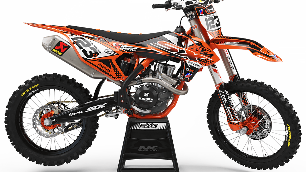 Custom dirt bike Graphics kit ktm FACTORY ENERGY CA33C orange