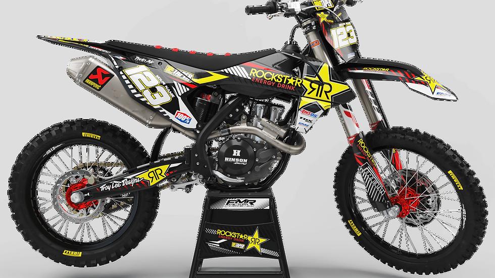 Custom dirt bike Graphics kit ROCKSTAR Limited Edition CA19A red