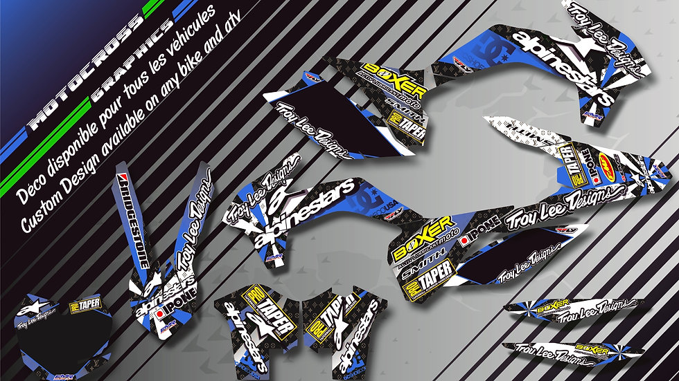 """ALPINESTARS CA4D"" Graphic kit HUSQVARNA TE 125"