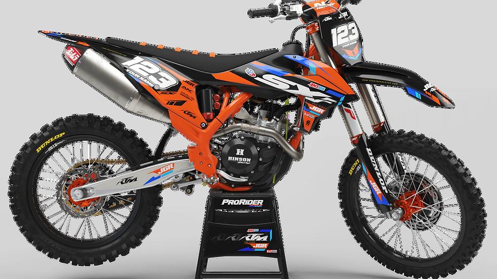 Custom dirt bike Graphics kit KTM JGR MOTOCROSS CA37C