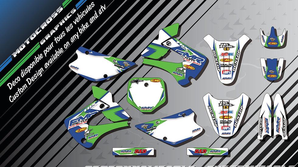 """""""Fmr Factory CA13B"""" Graphic kit KAWASAKI KX 85"""