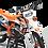 Thumbnail: Custom dirt bike Graphics kit KTM BUD RACING WHITE ORANGE CA36C2