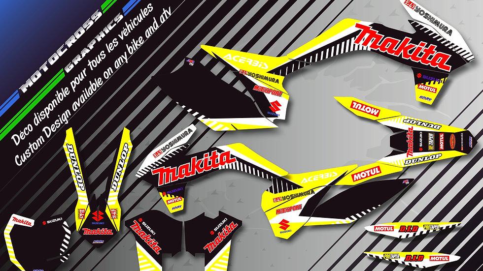 """""""Makita CA12C"""" Graphic kit SUZUKI RM 85"""