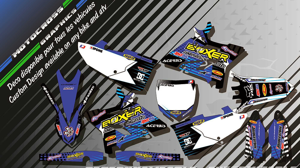 """""""BOXER KA1E"""" Kit Déco Perso 125 & 250 YZ 93-18"""
