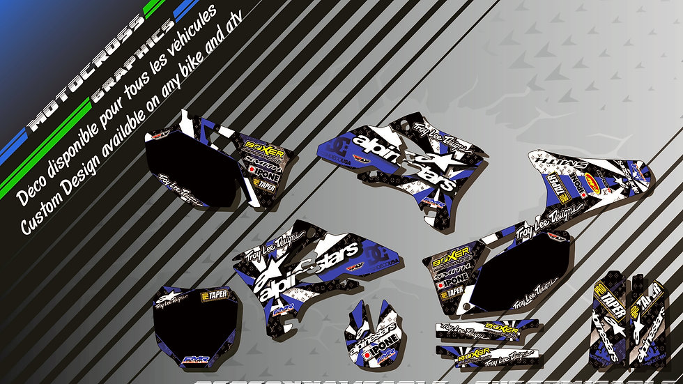 """ALPINESTARS CA4D"" Graphic kit YAMAHA YZF 250 00-17"