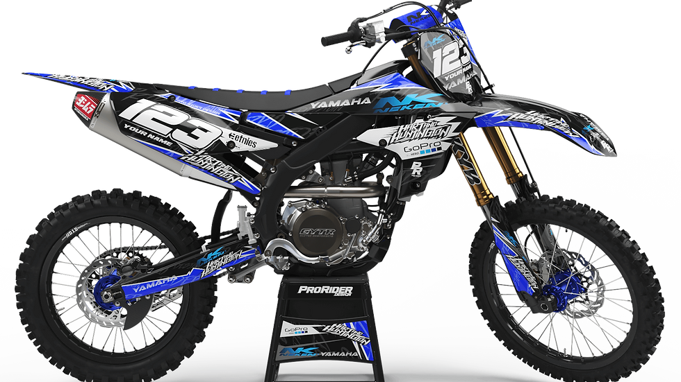 Custom dirt bike Graphics kit yamaha GO PRO HART AND HUNTINGTON