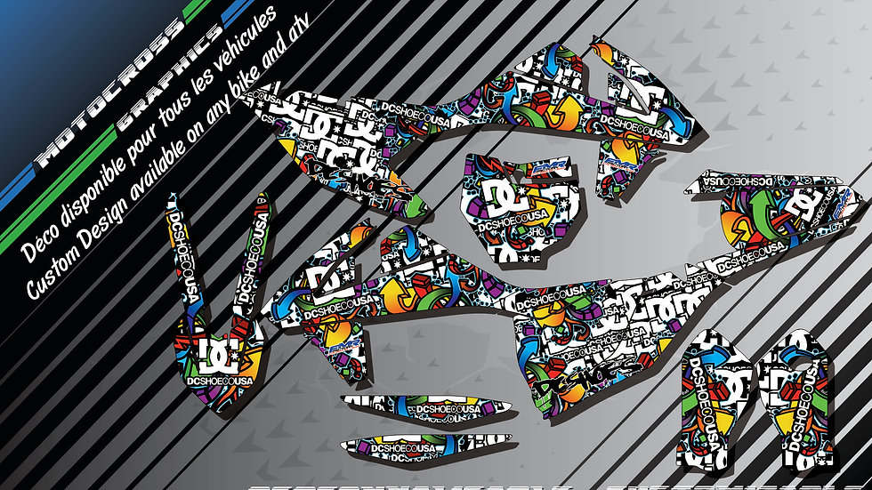 """DC Shoes CA14A"" Graphic kit KTM SX SXF Series 98-17"