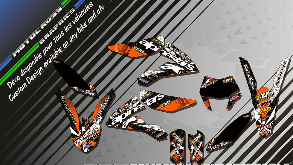 """ALPINESTARS CA4F"" Graphic kit KTM FreeRide"