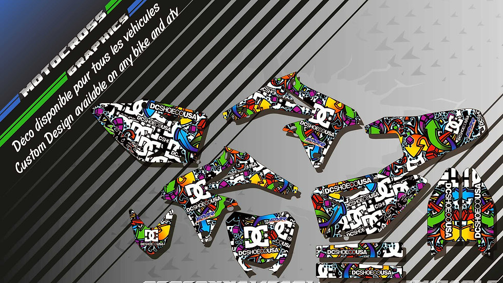 """DC Shoes CA14A"" Graphic kit SUZUKI RMz 450"
