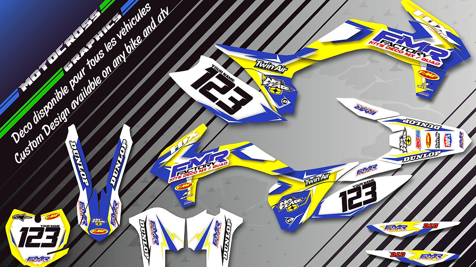"""Fmr Factory CA13D"" Graphic kit YAMAHA YZ80"