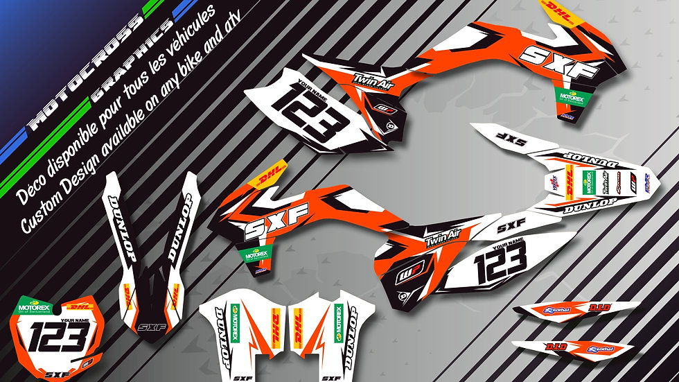 """Factory Replica KTM KA10C"" Kit Déco Perso EXC 97-17"