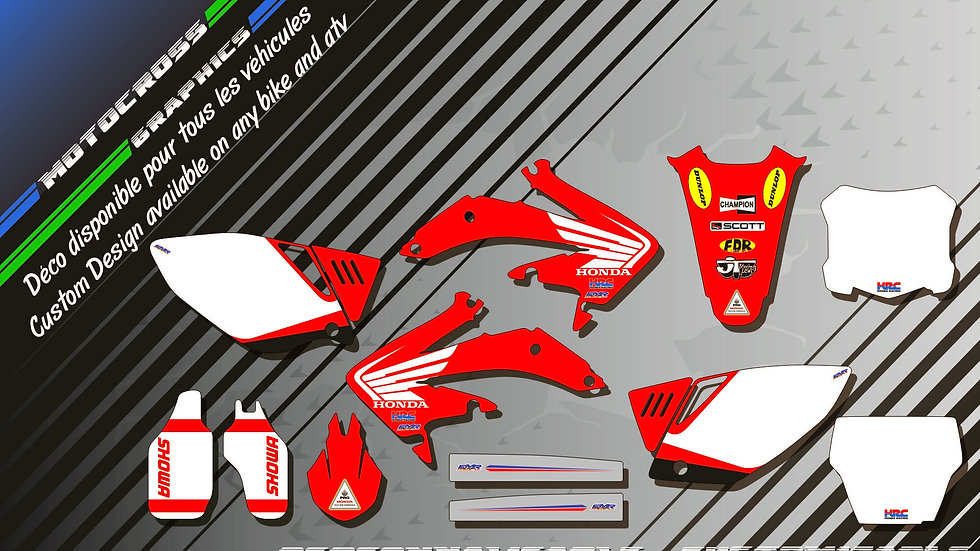 """Bailey Replica CA11A"" Graphic kit HONDA CRF 450R 02-18"