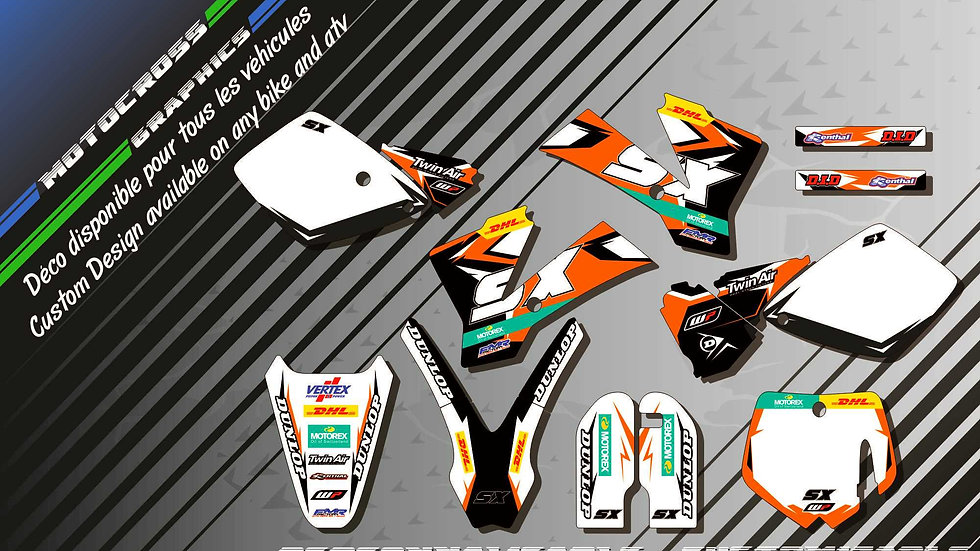 """Factory Replica KTM KA10C"" Kit Déco Perso 65 SX 01-17"