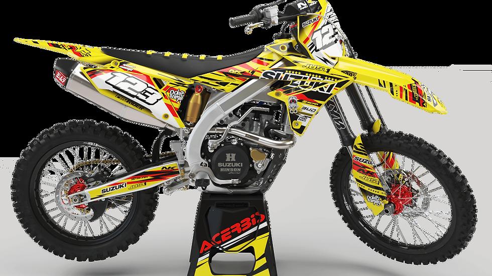 Custom dirt bike Graphics kit SUZUKI JUST1 RED