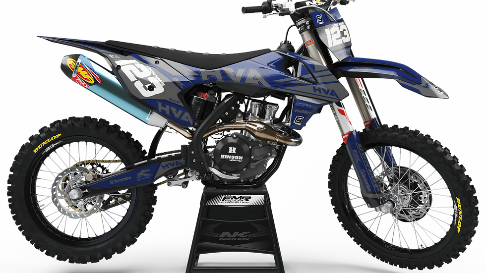 Custom dirt bike Graphics kit Husqvarna FACTORY Neken grey/blue CA32I