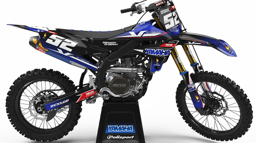 Custom dirt bike Graphics kit yamaha FIRE POWER