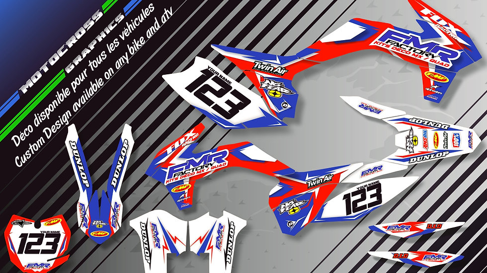 """Fmr Factory CA13A"" Graphic kit HONDA CRF 250R"
