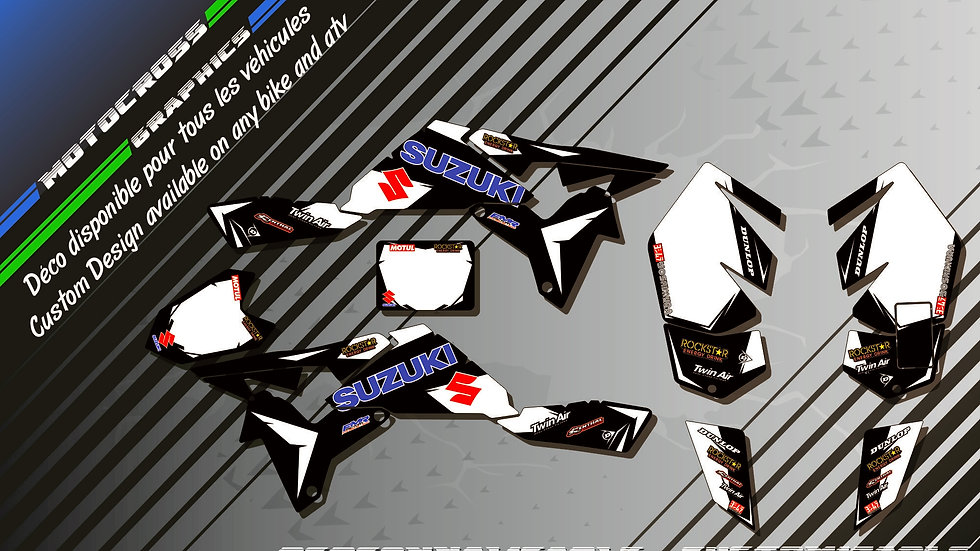 """Factory Black Edition CA10DB"" Graphic kit SUZUKI LTR 450"
