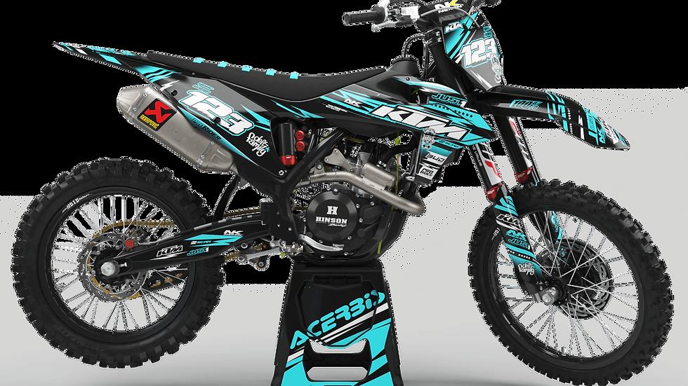 Custom dirt bike Graphics kit KTM JUST1 TEAL