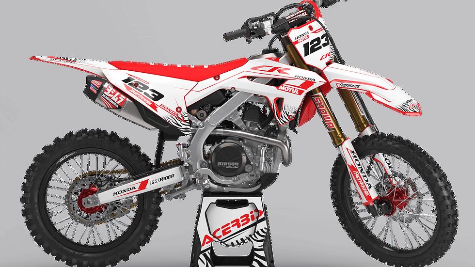 Custom dirt bike Graphics kit HONDA MOTUL WHITE